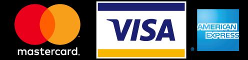 Mastercard, VISA, American Express